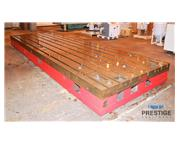 """(12) 78"""" x 236"""" x 15.74"""" T-Slotted Cast Iron Floor Plates"""