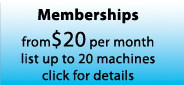 Monthly Memberships
